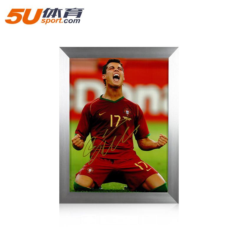 C罗亲笔签名葡萄牙2006世界杯进球后庆祝相片