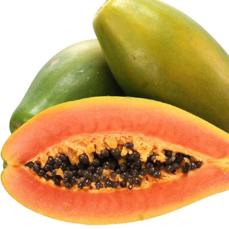 海南特产青皮红心牛奶木瓜8斤 新鲜热带水果番木瓜图片