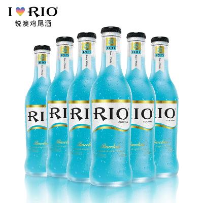 【酒厂自营】RIO锐澳微醺系列蓝玫瑰鸡尾酒套餐预调酒洋酒275ml*6瓶