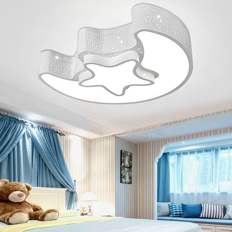 路鑫 儿童房吸顶灯卧室灯led个性创意卡通灯男孩星星月亮女孩房间灯具