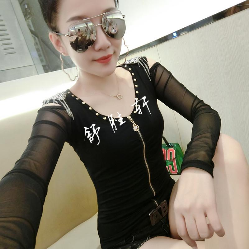 秋季小衫女�_秋季小衫女2017新款长袖韩版百搭上衣时尚潮流个性性感打底衫