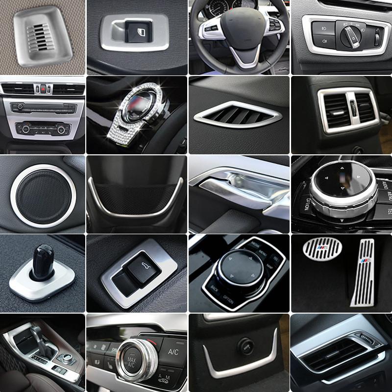 16-18款宝马新x1改装内饰装饰条中控面板贴挡把头汽车
