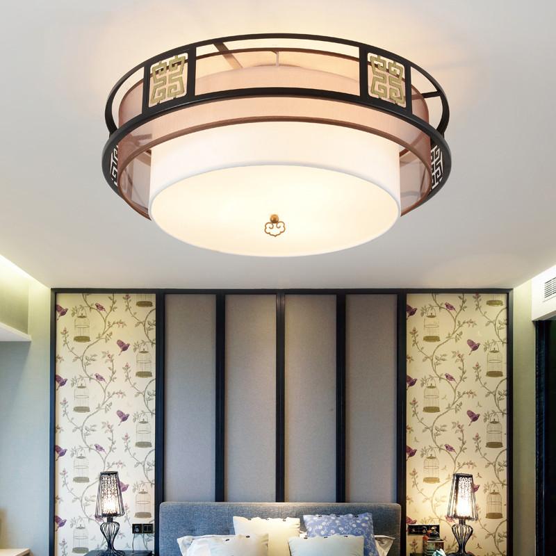 新中式 led吸顶灯 现代简约客厅灯圆形卧室灯餐厅灯具图片