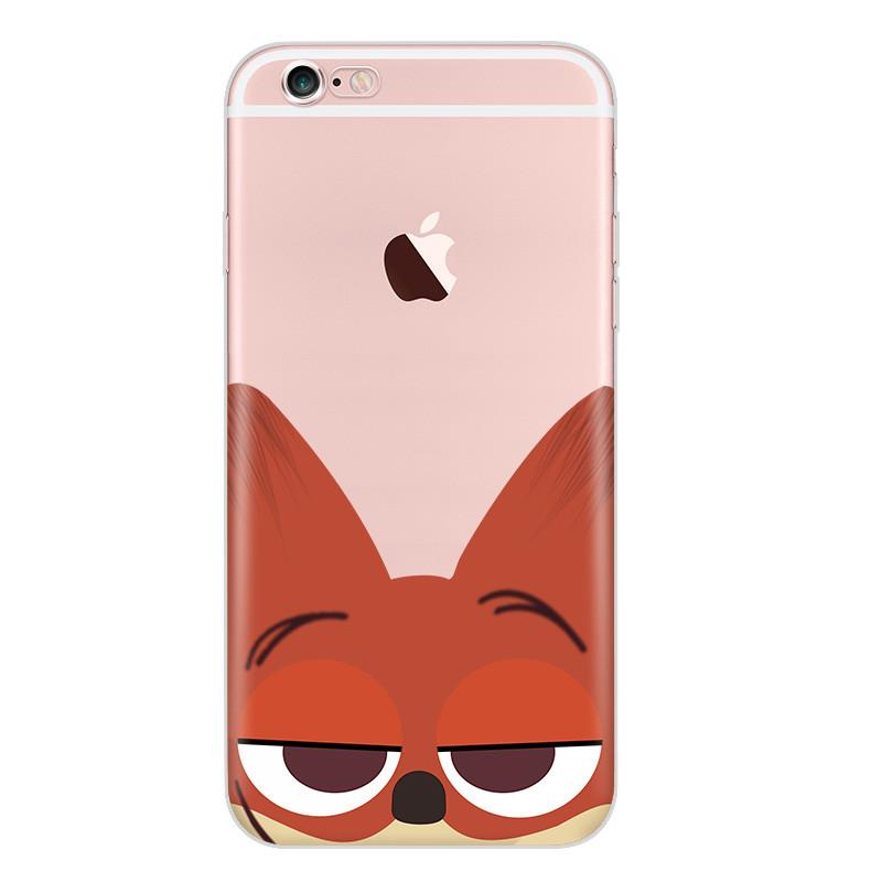 luphie 苹果7手机壳5s疯狂动物城朱迪兔狐尼克iphone6s plus创意情侣