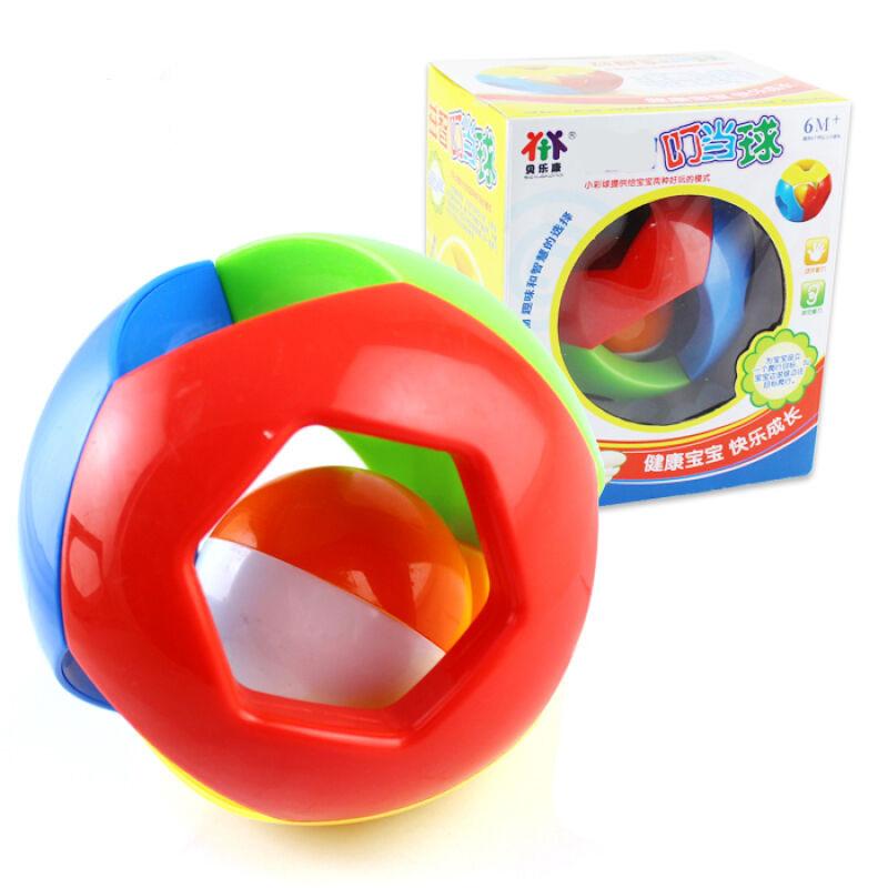 贝乐康颜色鲜艳的摇铃叮当球锻炼宝宝爬行抓握/视觉/听觉0.