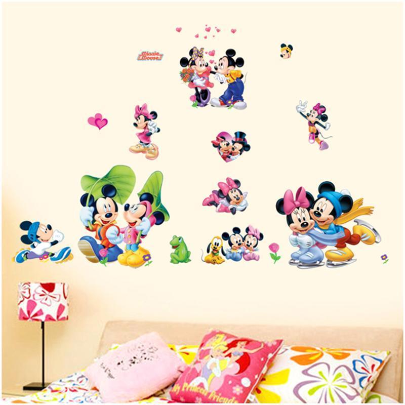 宜佳蕙可爱卡通动物宝宝墙贴纸 幼儿园儿童房卧室双面玻璃门贴画