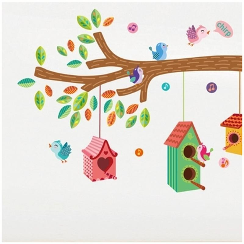 宜佳蕙可移除卡通动漫可爱卡通动物墙贴纸儿童房幼儿园教室布置装饰画