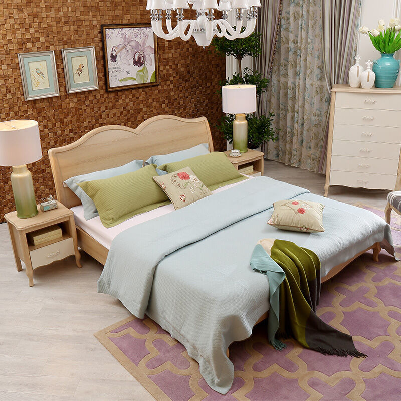 a家家具简欧双人床欧式实木床时尚