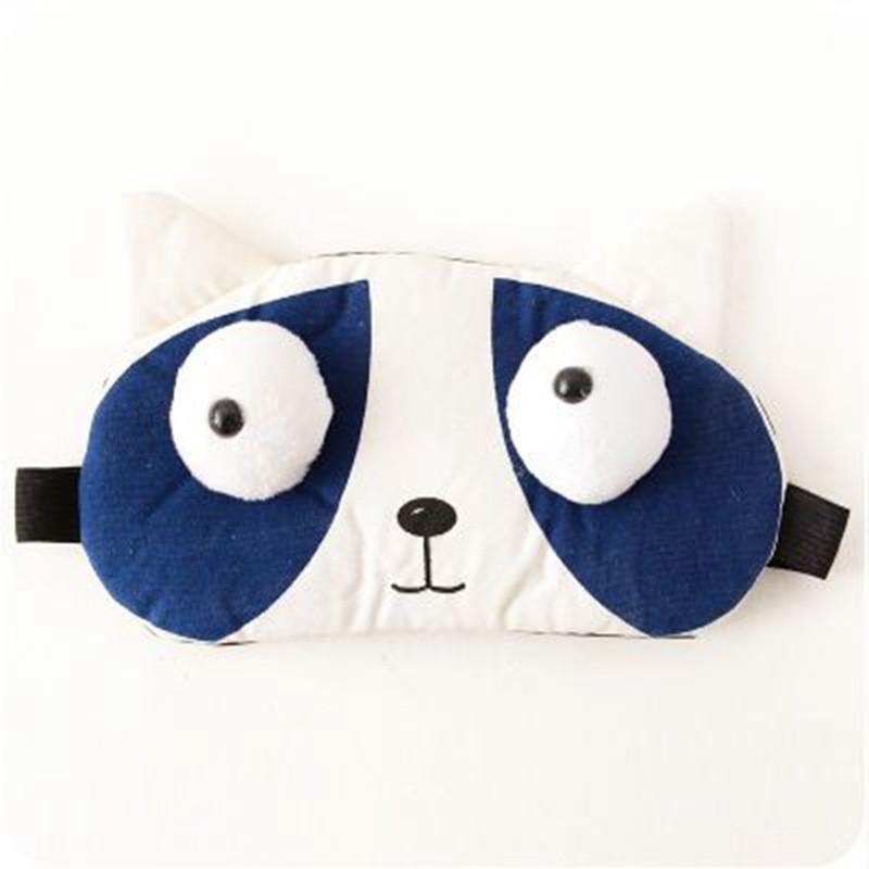 开馨宝 韩版卡通遮光眼罩旅行眼罩 可爱睡眠学生午睡冰敷眼罩 棕色