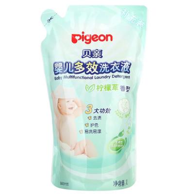 貝親(Pigeon)嬰兒多效洗衣液 柔順劑 有香味(檸檬草香)嬰兒洗衣液 1000ml 補充裝1L MA58