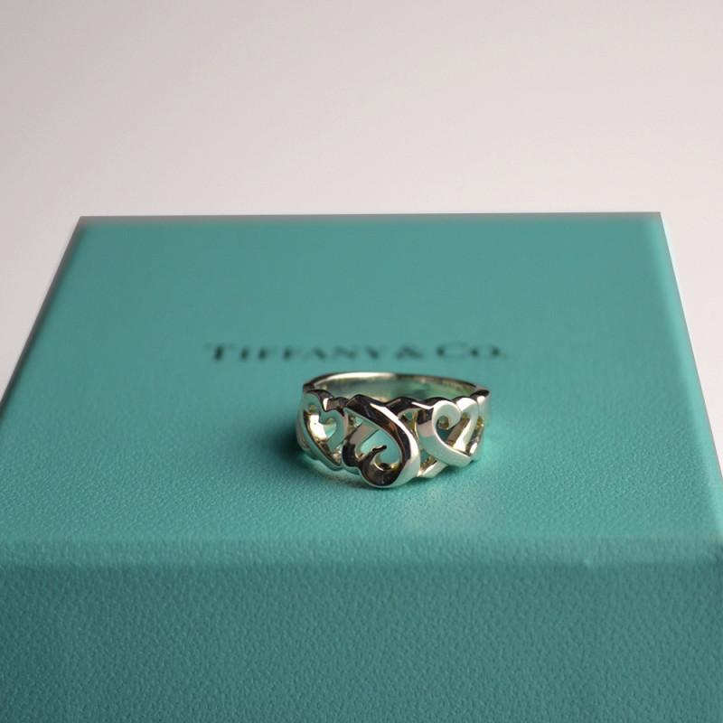 tiffany:蒂芙尼 925银毕加索心环戒指