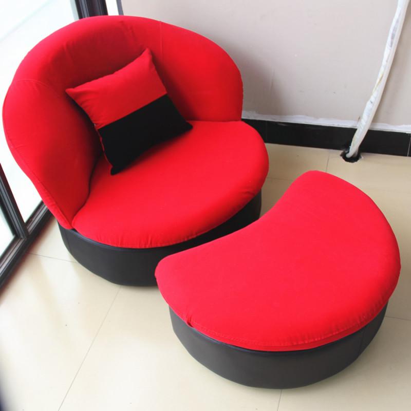懒人沙发单人椅创意可爱简约布艺小户型可拆洗卧室阳台电脑椅休闲