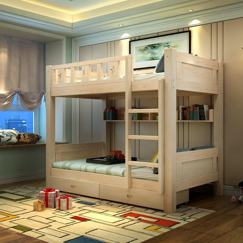 高低床_高低床房间装修图片_高低实木床图片大全-久久