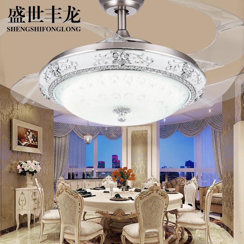 自然风光 现代简约时尚餐厅客厅风扇灯带灯电风扇凤尾