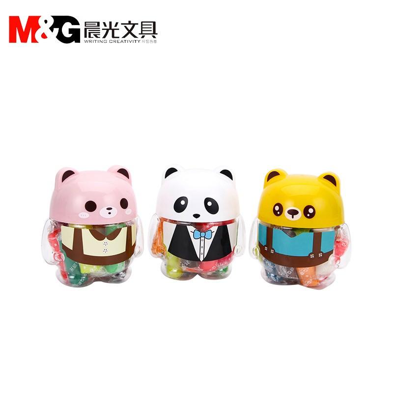 晨光文具 ake04064 彩泥可爱熊猫造型小桶12色橡皮泥