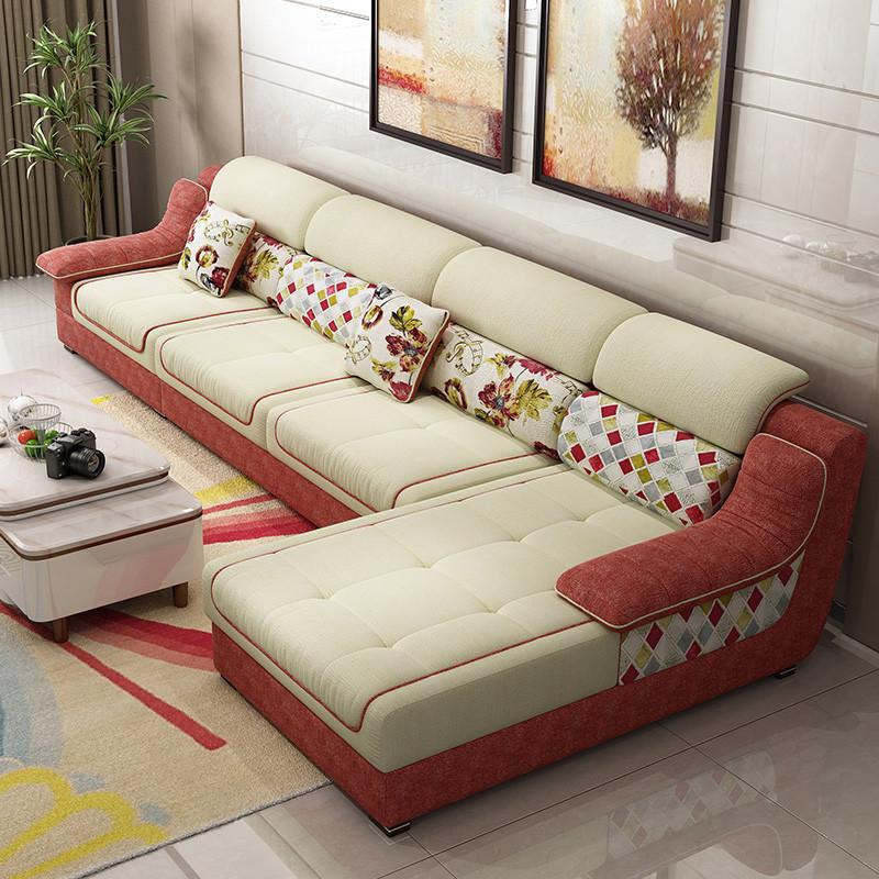 奥弗尔 沙发 布艺沙发 新款防污防水免洗沙发 懒人沙发 小户型沙发