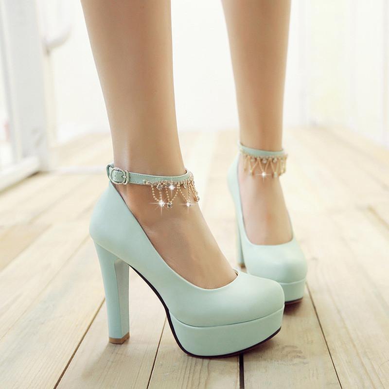 韩版小女孩公主皮鞋主持人礼服鞋女童单鞋春季舞蹈表演高跟鞋童鞋