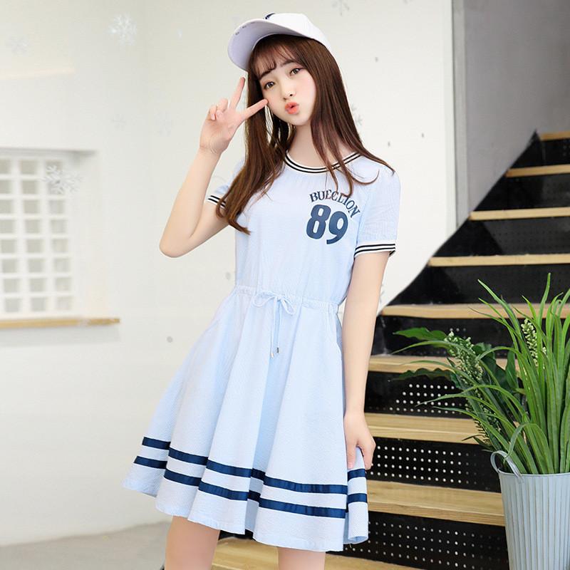 少女装_纯棉少女装13清纯学院风14夏季15小清新16岁白色初中学生连衣裙子