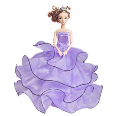 雅丽思 芭比娃娃玩具礼服公主裙洋娃娃女孩玩具 紫色裙子