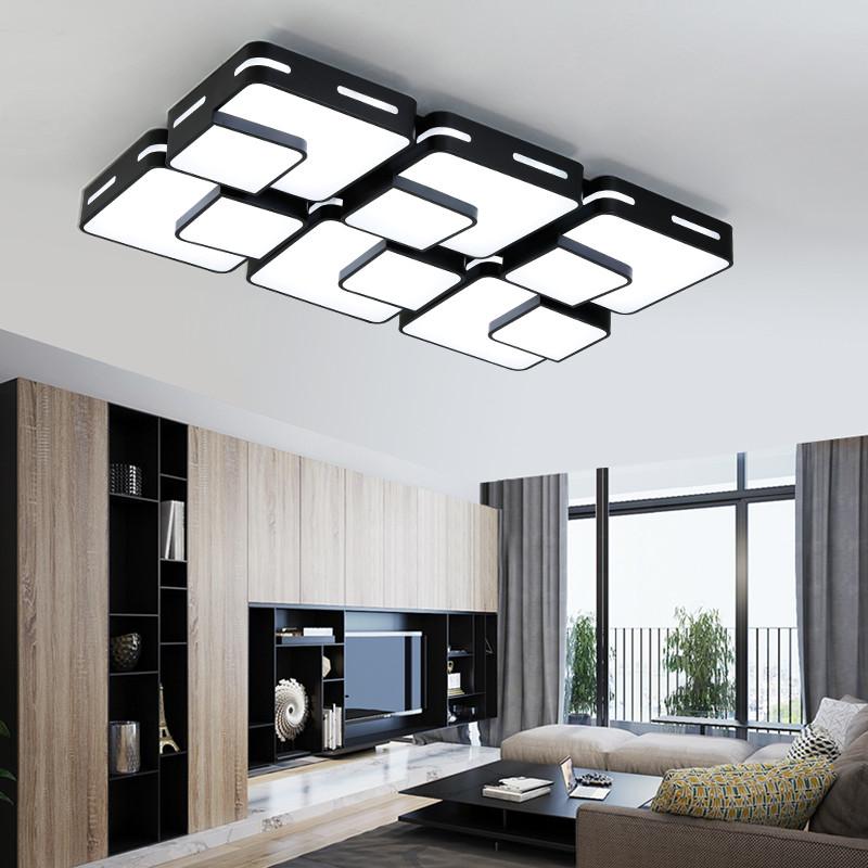 思悦led吸顶灯 遥控变光客厅灯长方形大气现代简约卧室温馨餐厅灯具图片