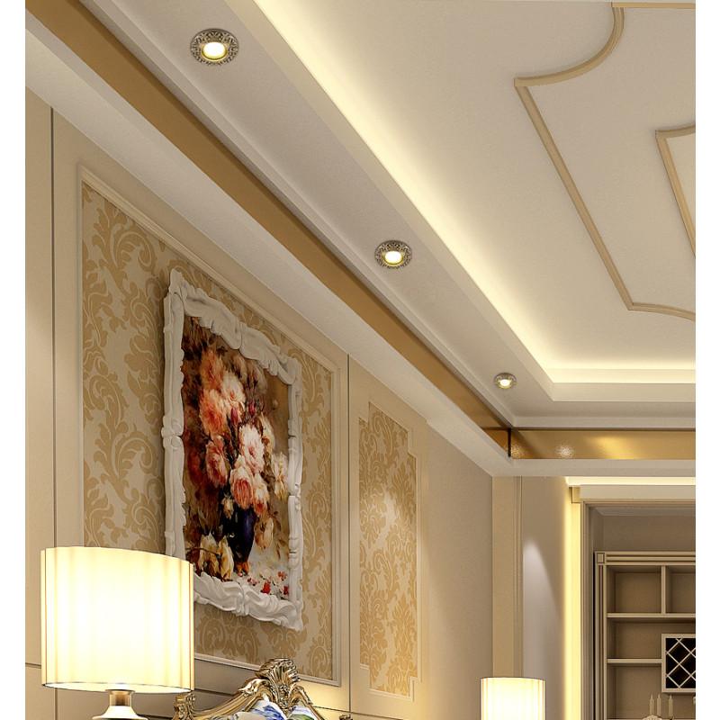 全铜欧式筒灯家用射灯 新中式led天花筒灯 客厅嵌入式