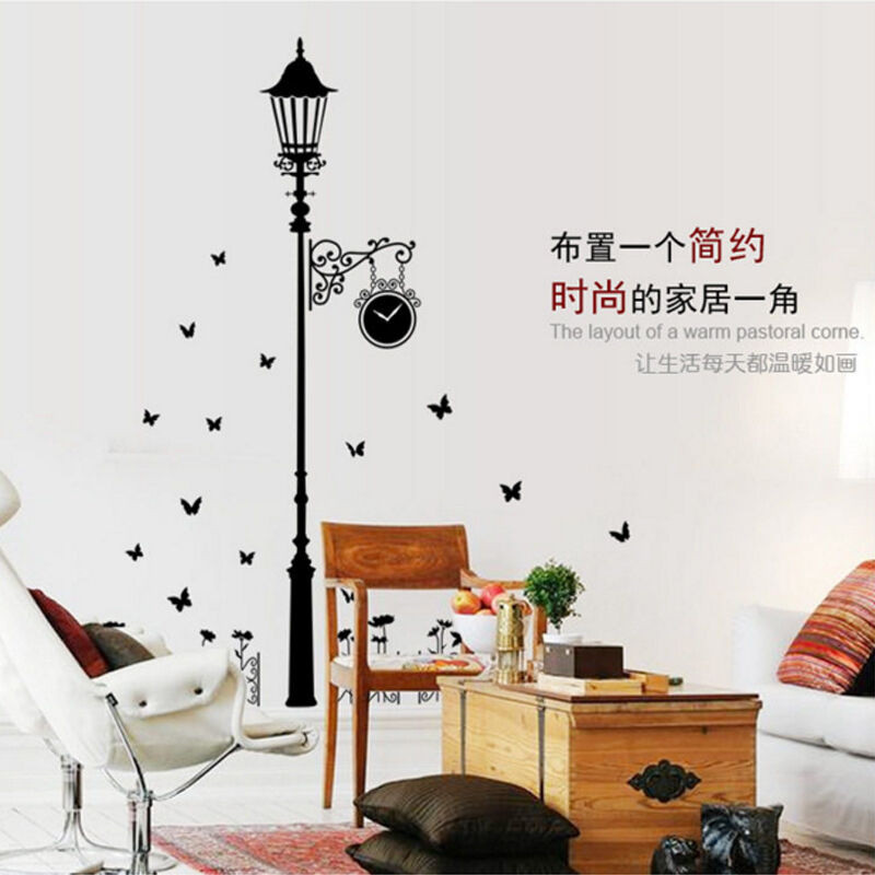 (吉朵芸)卧室客厅墙贴房间装饰品贴画玄关创意欧式路灯背景墙壁贴纸