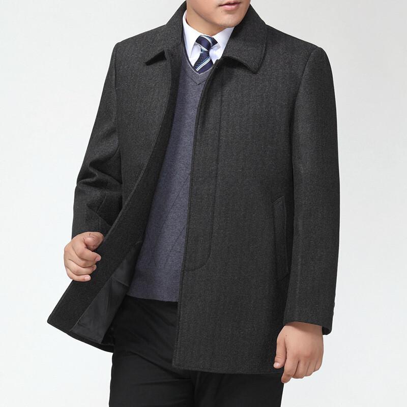 中老年男外套休闲宽松风衣