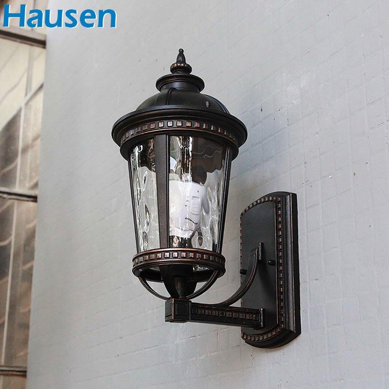 皓森照明2016新款欧式户外壁灯 墙壁灯防雨防晒 阳台灯过道走廊壁灯圆
