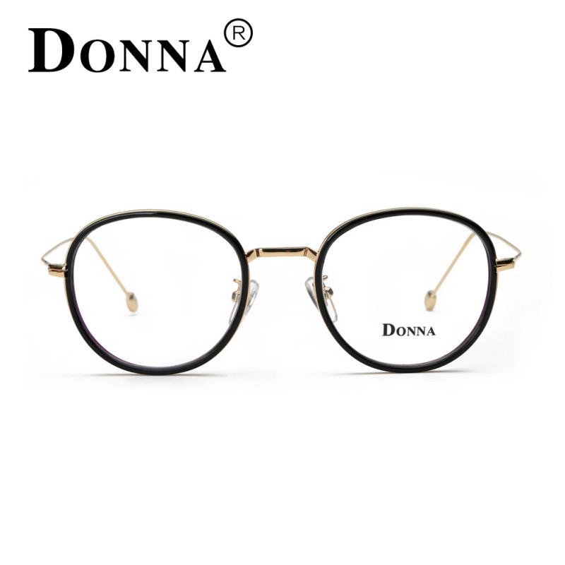 哆哪男女大脸圆框个性复古潮流时尚可配近视光学眼镜框金边眼镜架 dn