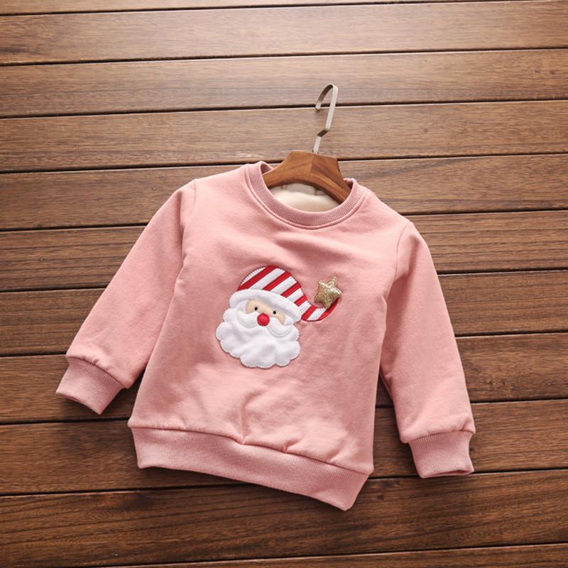 小龙王2016新款韩版秋冬款女童加绒卫衣儿童女加厚上衣套头保暖打底衫