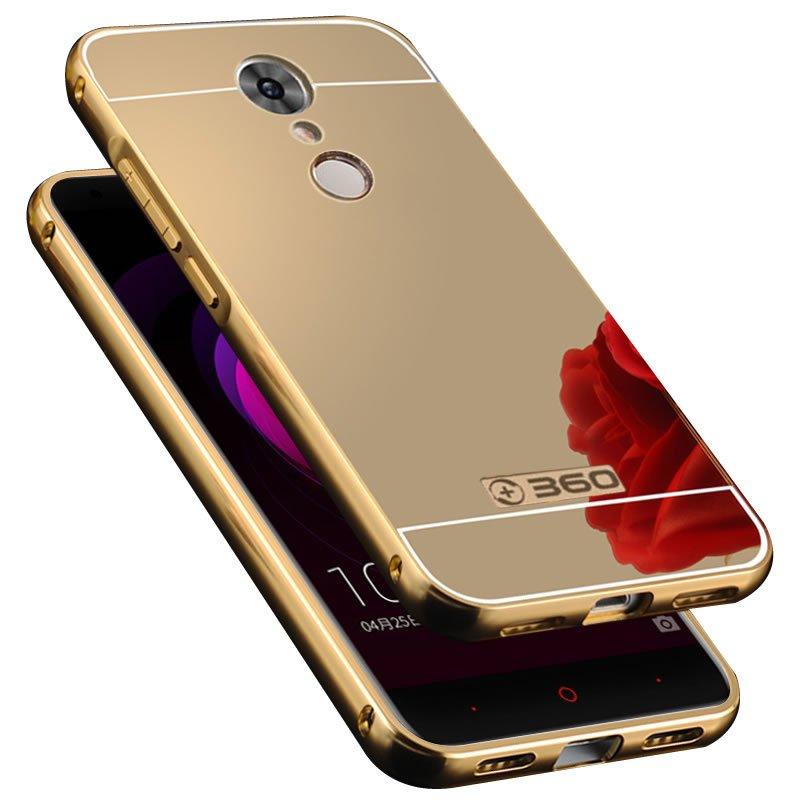 麦路 手机壳保护套手机套金属边框镜面后盖外壳 适用于360手机 n4