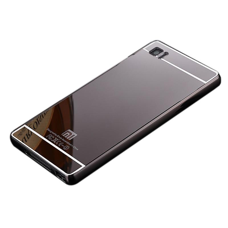 麦路 手机壳保护套镜面金属边框后盖 适用于小米3/mi3