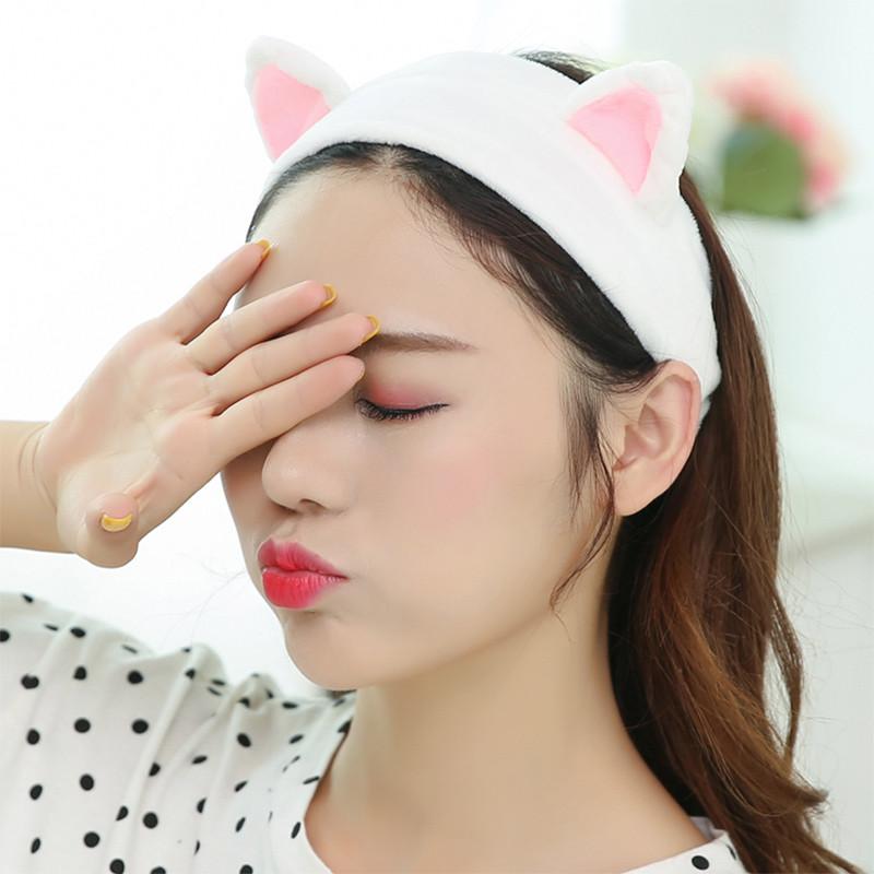 【拼购】洗脸发带发箍猫耳朵束发带韩国可爱头饰头巾女敷面膜化妆发