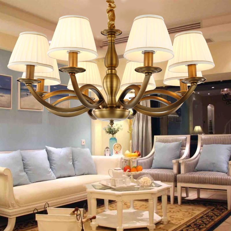 新中式美式吊灯客厅灯田园铁艺卧室餐厅灯简约复古灯具图片