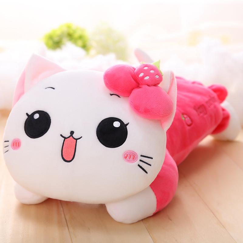 圣诞节礼物可爱猫咪抱枕公仔毛绒玩具猫女生大长条睡觉布娃娃布偶