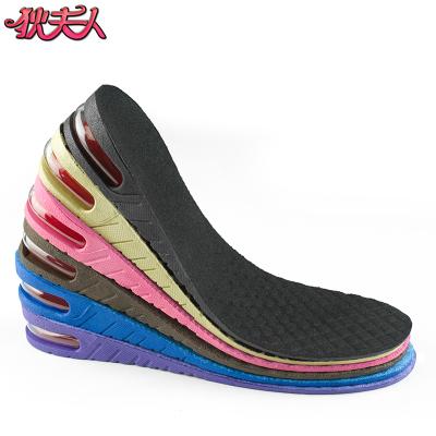 狄夫人 內增高鞋墊隱形氣墊男士女式PU 舒適3-9CM 防臭全墊雙層可調鞋材