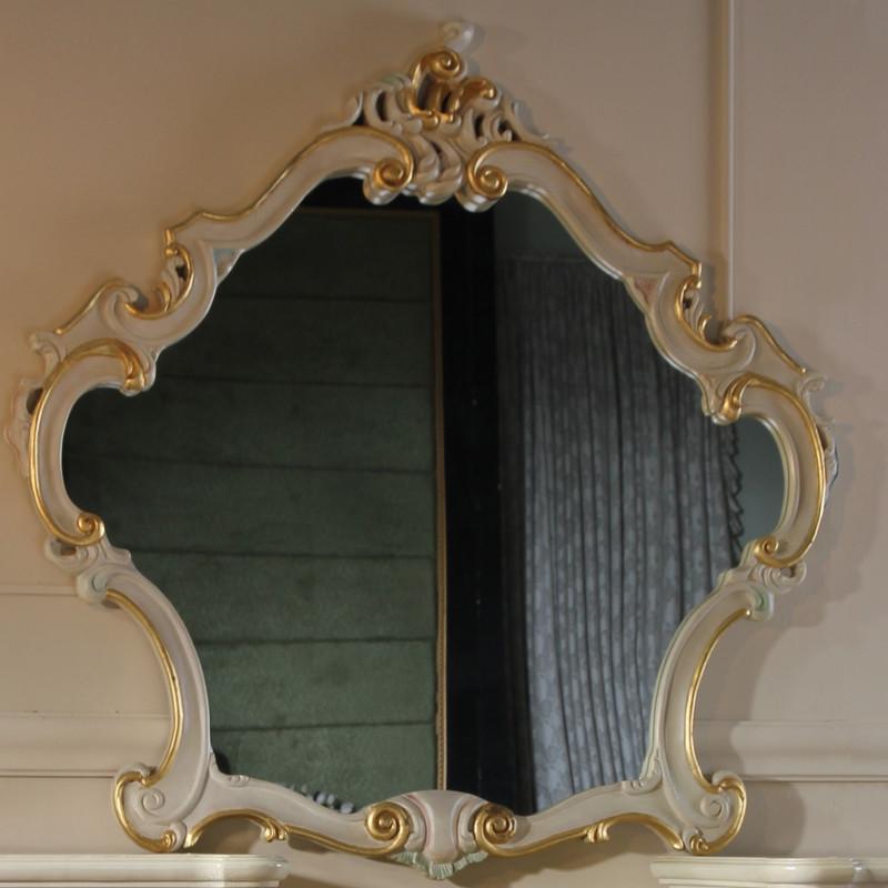 fp家居 巴洛克风格雕花 实木框架妆镜 法式高贵妆凳 古典家具梳妆台组