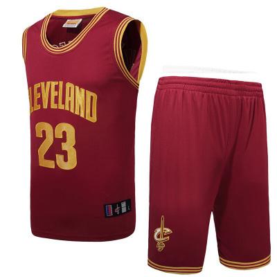 男士篮球服套装骑士队23号詹姆斯球服骑士队比赛训练服运动服詹姆斯短袖T恤套装队服