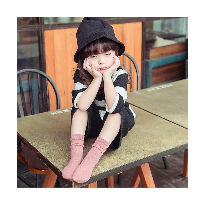 堆袜韩国春夏款童袜男童女中筒袜婴儿袜纯色童宝宝袜子2017新品简约