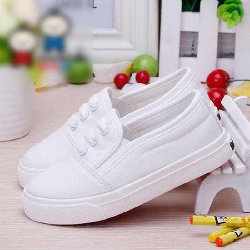 儿童帆布鞋男童布鞋春季新款女童白色懒人球鞋童小白鞋2017新品可爱