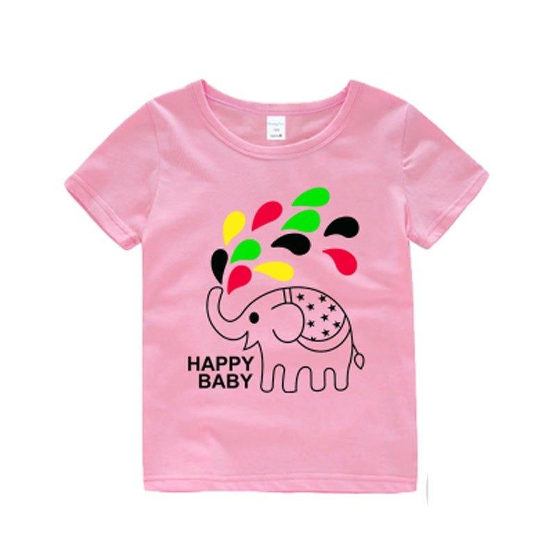 2017新款韩版男童装女童半袖衫儿童夏装宝宝上衣小孩短袖t恤 可爱卡通