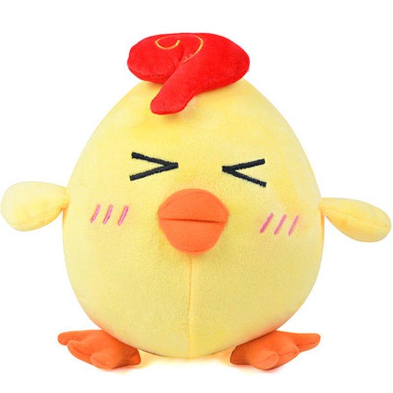 可爱卡通小鸡小孩子毛绒玩具可爱鸡公仔布娃娃玩偶男.