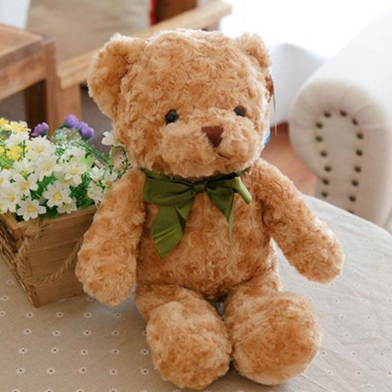 男女宝宝可爱玩具丝巾泰迪熊抱抱熊毛绒玩具公仔熊娃娃大号女生孩子