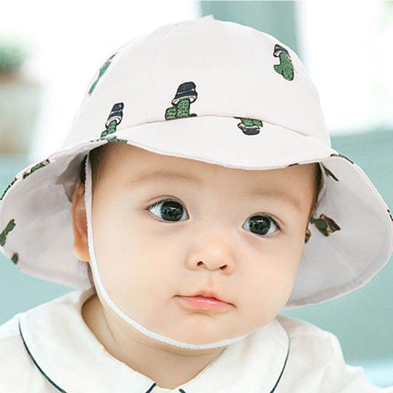 婴儿帽子春夏太阳帽3-6-12个月男女宝宝帽子盆帽遮阳帽防晒渔夫帽2017