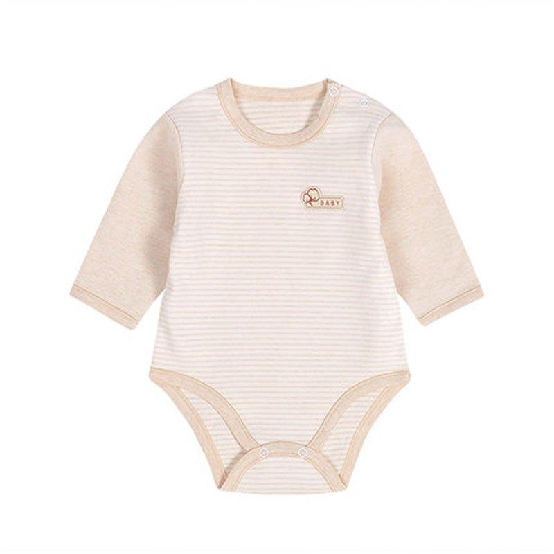 新生儿衣服 婴儿三角哈衣爬服包屁衣 宝宝长袖内衣睡衣2017新品可爱