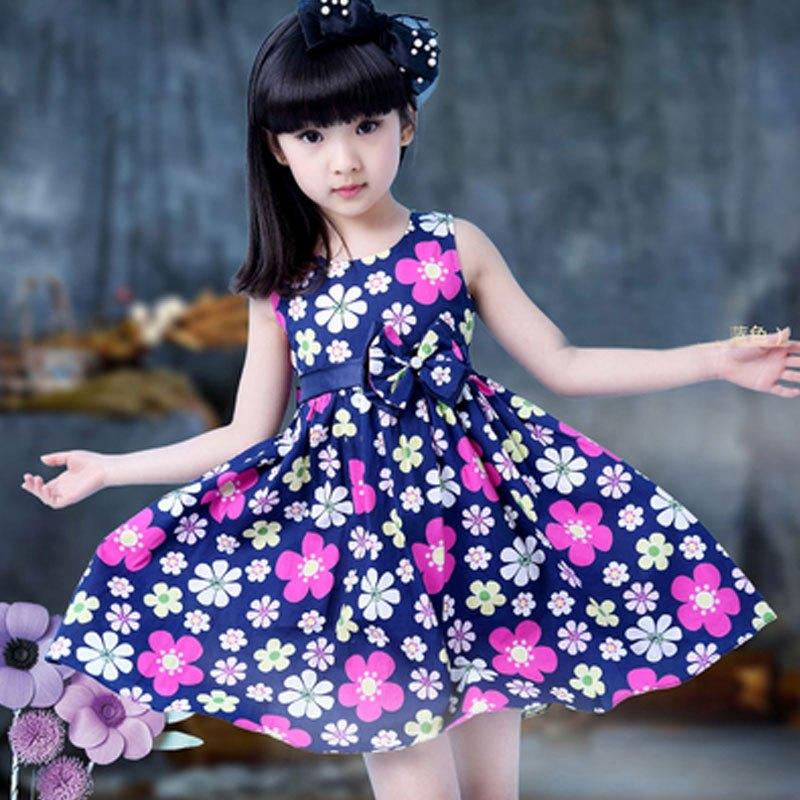 儿童背心连衣裙夏季女孩简约小清新碎花裙潮可爱小女孩子裙子夏天女宝
