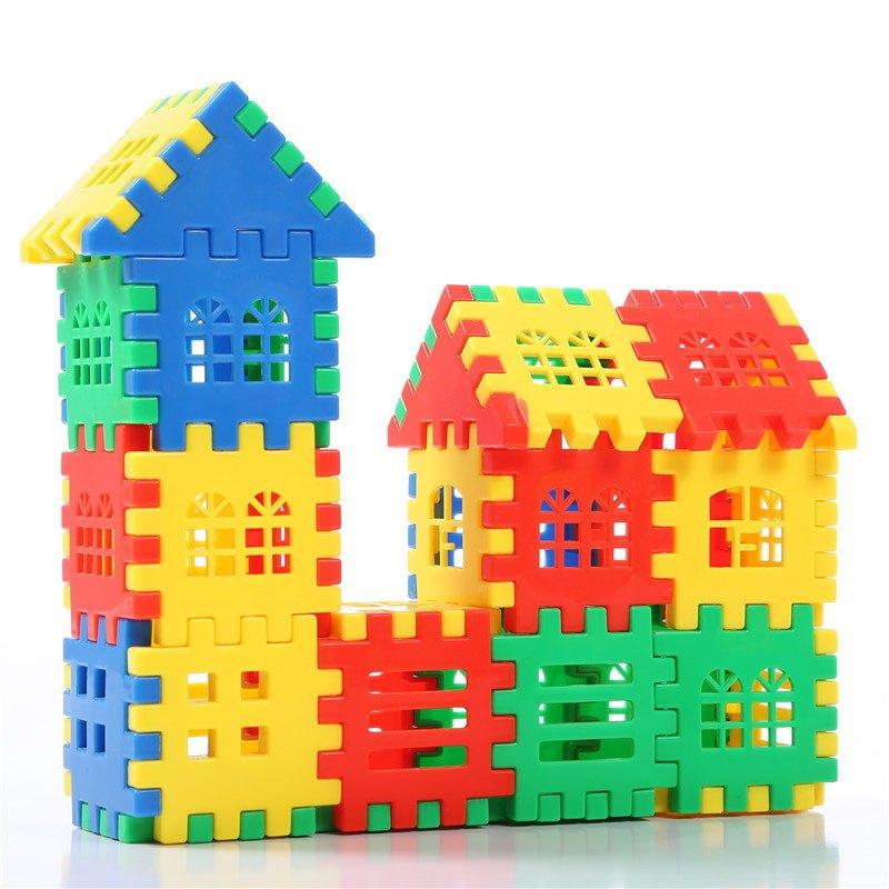 6周岁1-2-4儿童男孩女孩宝宝创意拼装小屋当季新品可爱彩色积木-盒装