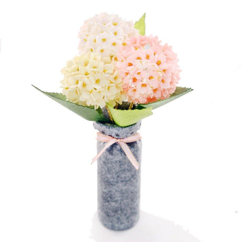 布艺盆栽花盆幼儿园儿童不织布手工diy制作创意材料包