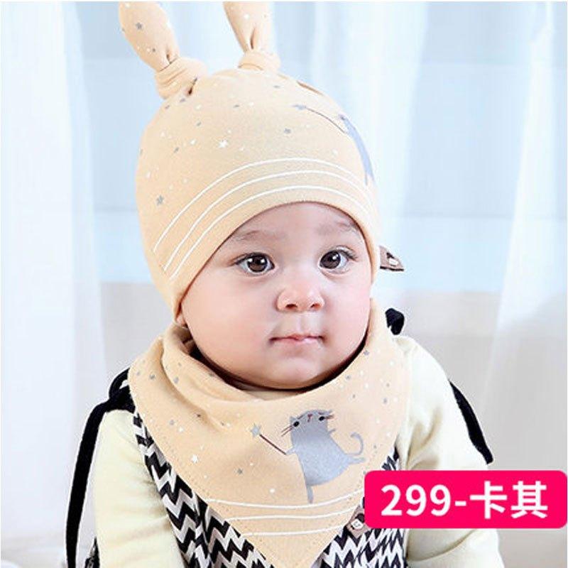 婴儿帽子春秋0-3-6-12个月薄款胎帽公主新生儿帽子男女宝宝帽冬季当季