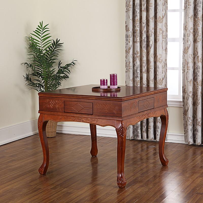 全自动静音餐桌两用电动麻将桌 家用欧式四口麻将机 实木欧式餐桌两用
